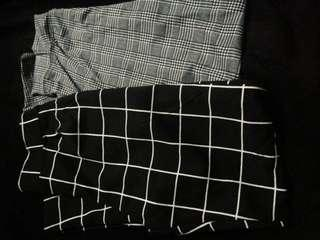 Trendy Plaid Trousers Bundle Size 26+