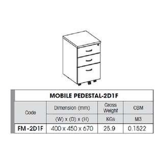 (Free Delivery) Mobile Pedestal 2D1F