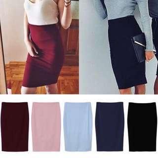 High waisted Office Skirt