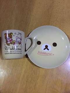 Rillakuma Mug & Cake Plate Set