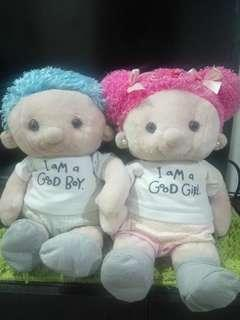 Twin Stuffed Toys (boy and girl) For Sale