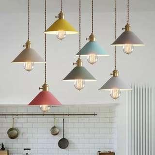 🚚 北歐馬卡龍吊燈LED燈