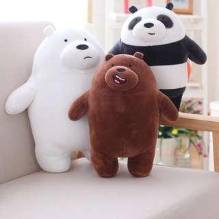🚚 We Bare Bears Plush Toy