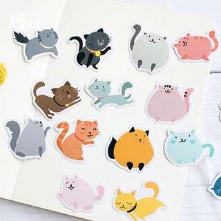 [PO] colorful cat stickers