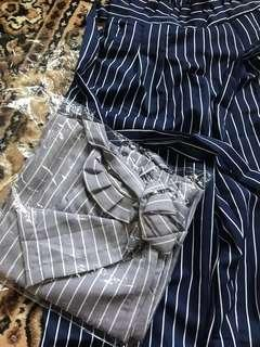 Celana Stripes Grey & Navy