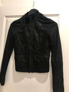 Armani xchange leather jacket