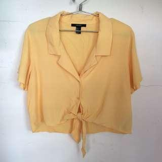 Forever 21 Tie Front Top