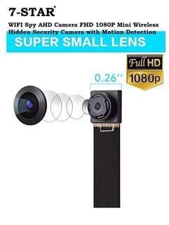 Pinhole Camera - Spycam - Wireless Spy Camera - Hidden Camera (Build in battery) - Wifi IP Cam - Mini Wireless CCTV IP Camera - HD Mini Portable Hidden Wireless Camera - Audio Recording (APP:BVCAM) 7-STAR*
