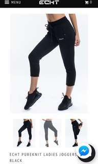 BRAND NEW - ECHT Pureknit Ladies Joggers Black