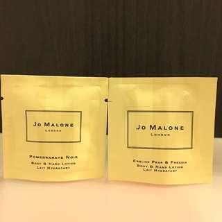 (包郵)全新jo Malone body & hand lotion 7ml x 2 pack