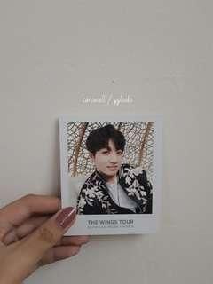 BTS - THE WINGS TOUR JUNGKOOK'S POLAROID PHOTO CARD