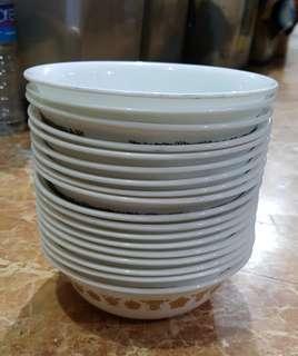 18pcs. Assorted Corelle Dessert Bowl
