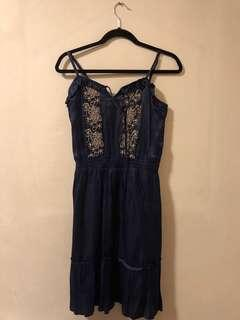 Silk Spaghetti Strap Dress
