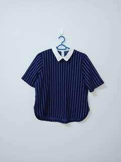 Blue White Strip Blouse