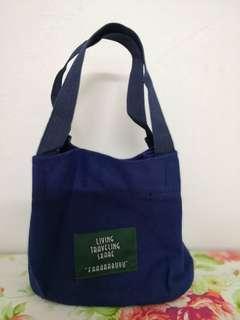 Korean style casual canvas handbag