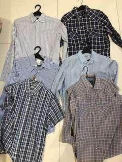 Gap shirt size xs  jual borongan 6pcs