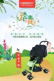 (免運)一鍵開關單手秒收折疊嬰兒車手推车可坐可躺雙向推車寶貝輕便折叠高景觀輕巧便攜式手推車
