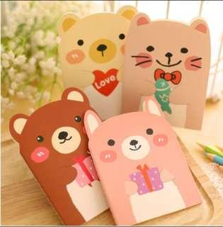 Small little bear note (ready stock)