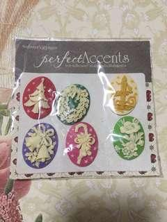 Webster's Pages • Non-adhesive resin embellishments