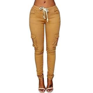 Woman Elastic Skinny High Waist Style Pants