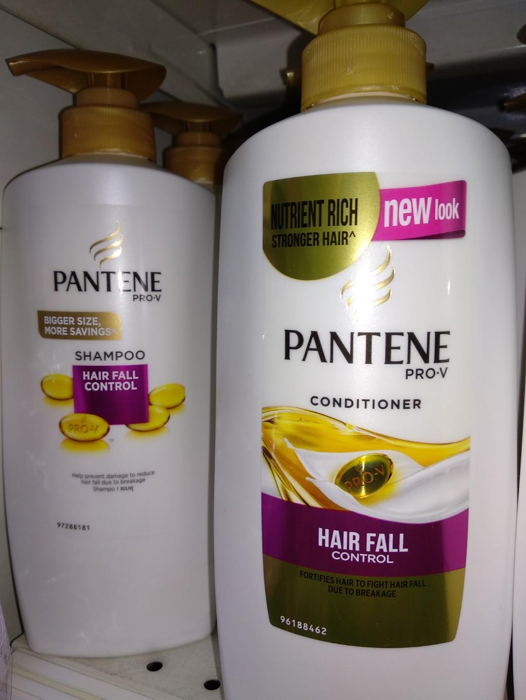 2 1 Pantene Conditioner Shampoo 750ml Health Beauty Hair Care Sampo Hairfall Control On Carousell
