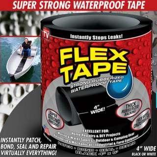 🚚 Flex Tape Rubberized Waterproof Tape 4 inches wide White or Black colour