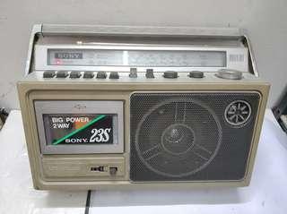 索尼牌 收音機 運作正常.卡带壞咗