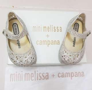 Mini Melissa Campana s5 12cm vhtf white baby shoes ootd