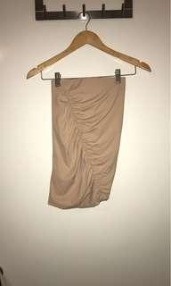Nude / Tan Mini Skirt