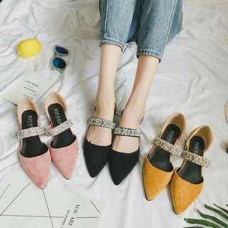 🍃Studded Formal Flat Closed Elegant Velvet Sandals