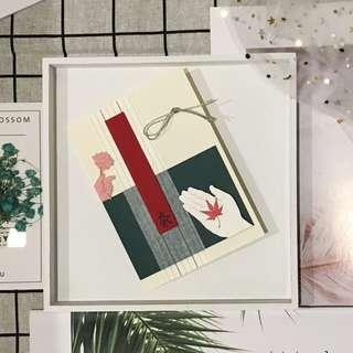 Unique Japanese Style Greeting Card
