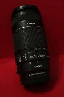 🚚 Canon EFS 55-250mm (Adapter not included)