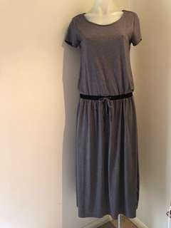 Grey long cotton dress