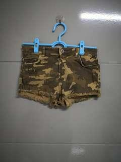 Bershka Army Shorts