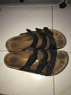 7577f224abb8 Leatherark black sandals