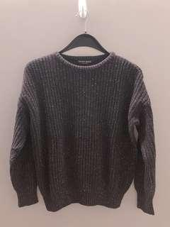 American Apparel Black knitted top made in the USA