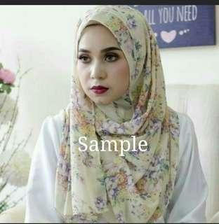 Printed Instant Shawls