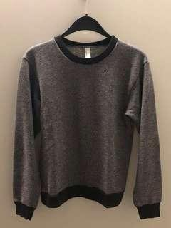 American Apparel Black Jumper Pullover Winter Top Made in the USA