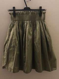 Brand new ZARA dark green skirt