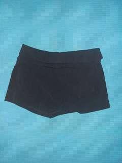 Forever 21 Asymmetrical Black Shorts