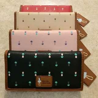 flower patterned long wallets