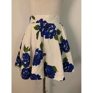 MINK PINK Floral Blue White Skirt SMALL