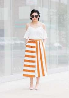 Stripes Terno Skirt