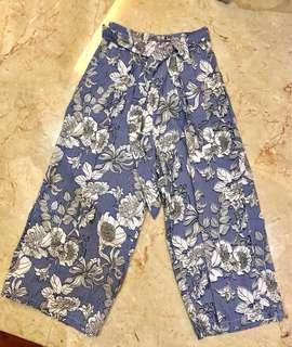 Floral Cotton Pants