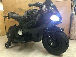 Metallic Black Ducati Rechargeable Ride On Motorcycle Big Bike Motorbike with Rubber Tires