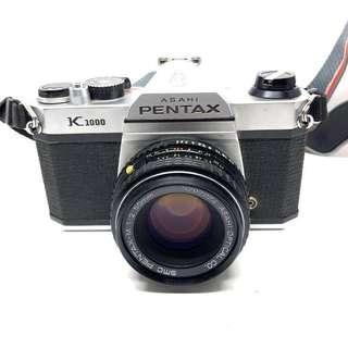 Pentax K1000 w/ 50mm F2 lens & 135mm F2.8 Lens