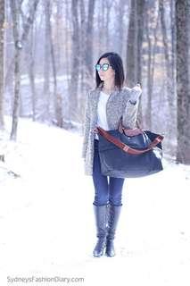 100% Authentic Longchamp Expandable Travel Bag