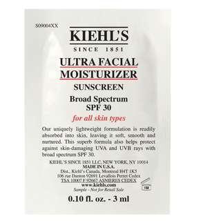 Kiehls Ultra Facial Moisturizer Sunscreen 科顏氏 特效保濕乳液 (防曬 SPF 30)