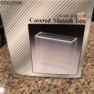 Matzoh box clear container for sale. Just reduced