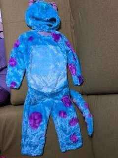 正版迪士尼毛毛怪獸扮嘢罩衣